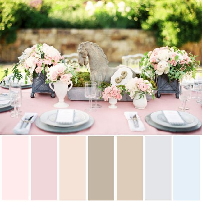 The colors for a shabby chic wedding