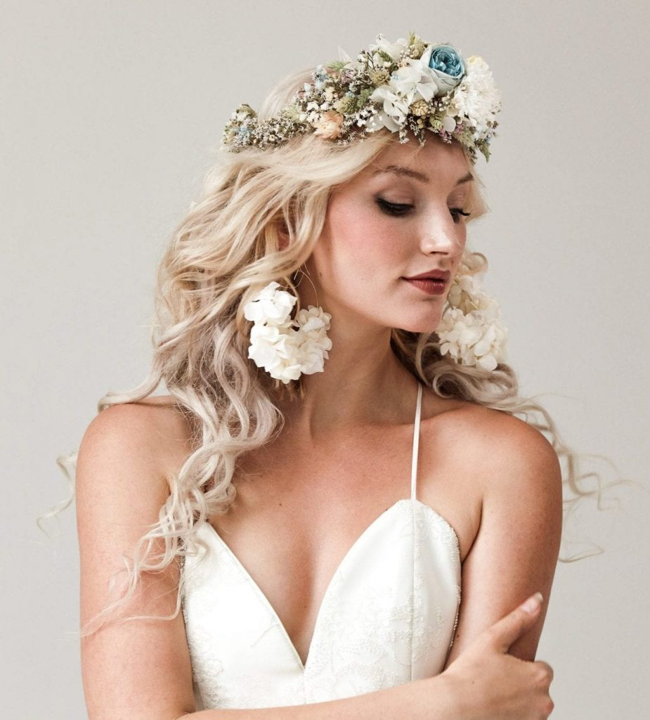 bride with Flower crowns