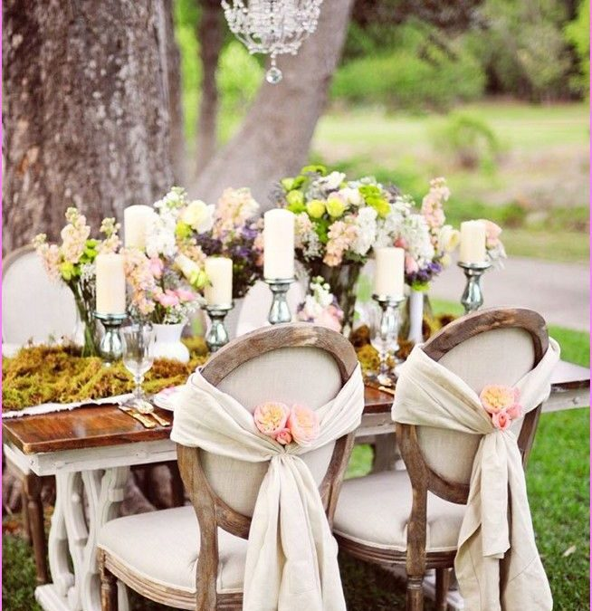 Shabby chic wedding: romantic and ecological style
