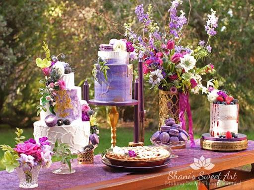 The wedding dessert buffet